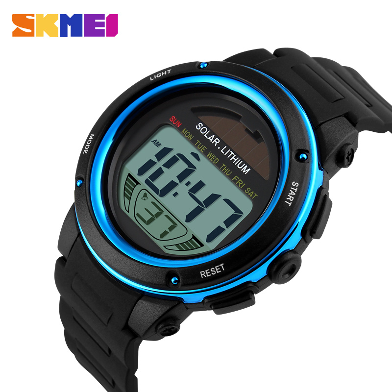 Skmei Brand Solar Energy Men Electronic Sports Watches Outdoor Military Led Watch Digital Wristwatches Relogio Masculino Watches