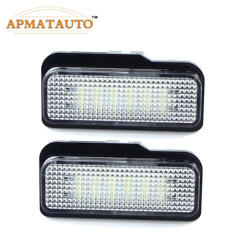 2 pcs 12 v LED License plate Ampoule Aucune Erreur Canbus Pour Mercedes Benz W203 W211 W219 6000 k blanc Plaque D'immatriculation lampe