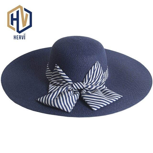 2018 Top Dropshipping Fashion Elegant Women Hat Female Big Wide Brim Summer  Hat Sun Shade Visor 8a2581b3f3bf