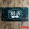 15x30 cm  vintage license plates FREE WIFI FREE retro iron painting wall sticker number plate metal craft DECOR