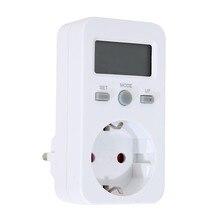 ЕС Plug Digtal Счетчик Энергии Гнездо плагин Электрический Измеритель Мощности Энергии Монитор ЖК-Дисплей