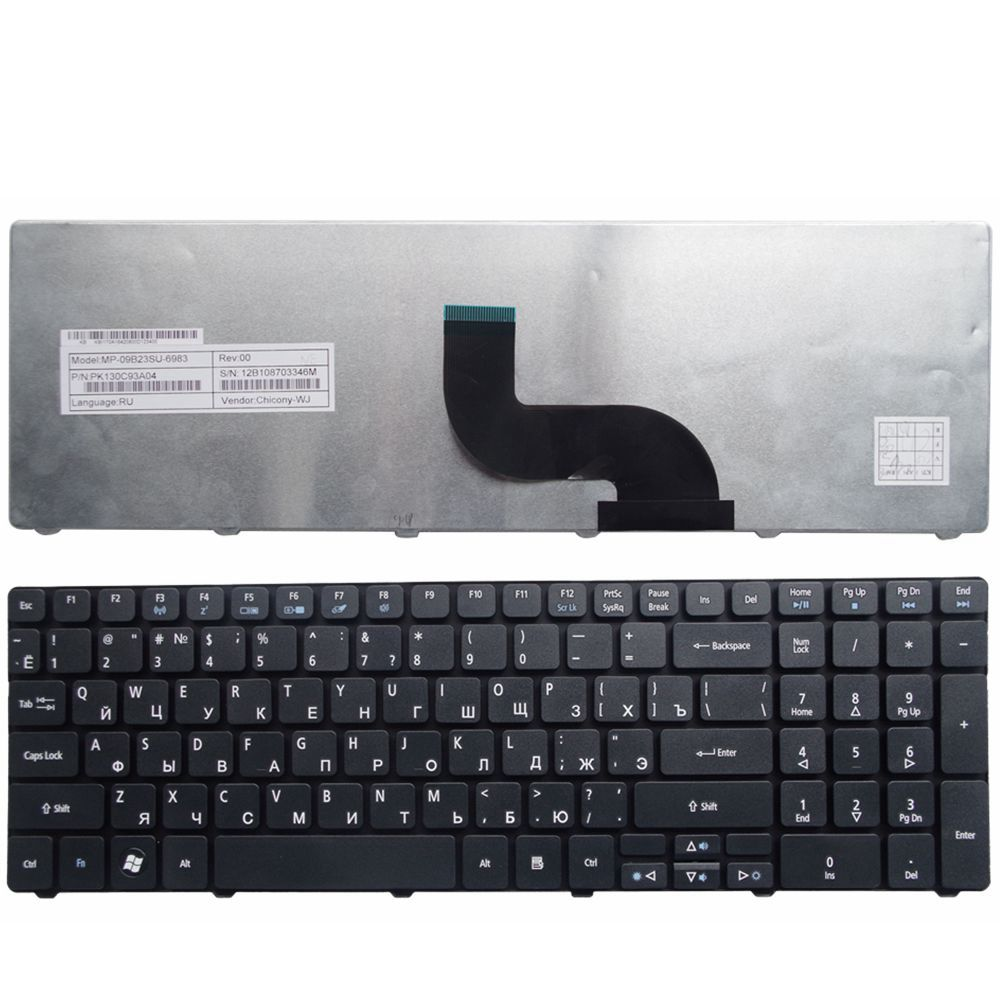 YALUZU Russian Laptop Keyboard For Acer FOR Aspire E1-571 E1-571G E1 E1-521 E1-531 E1-531G TM8571 MP-09G33SU-698 PK130DQ2A04 RU