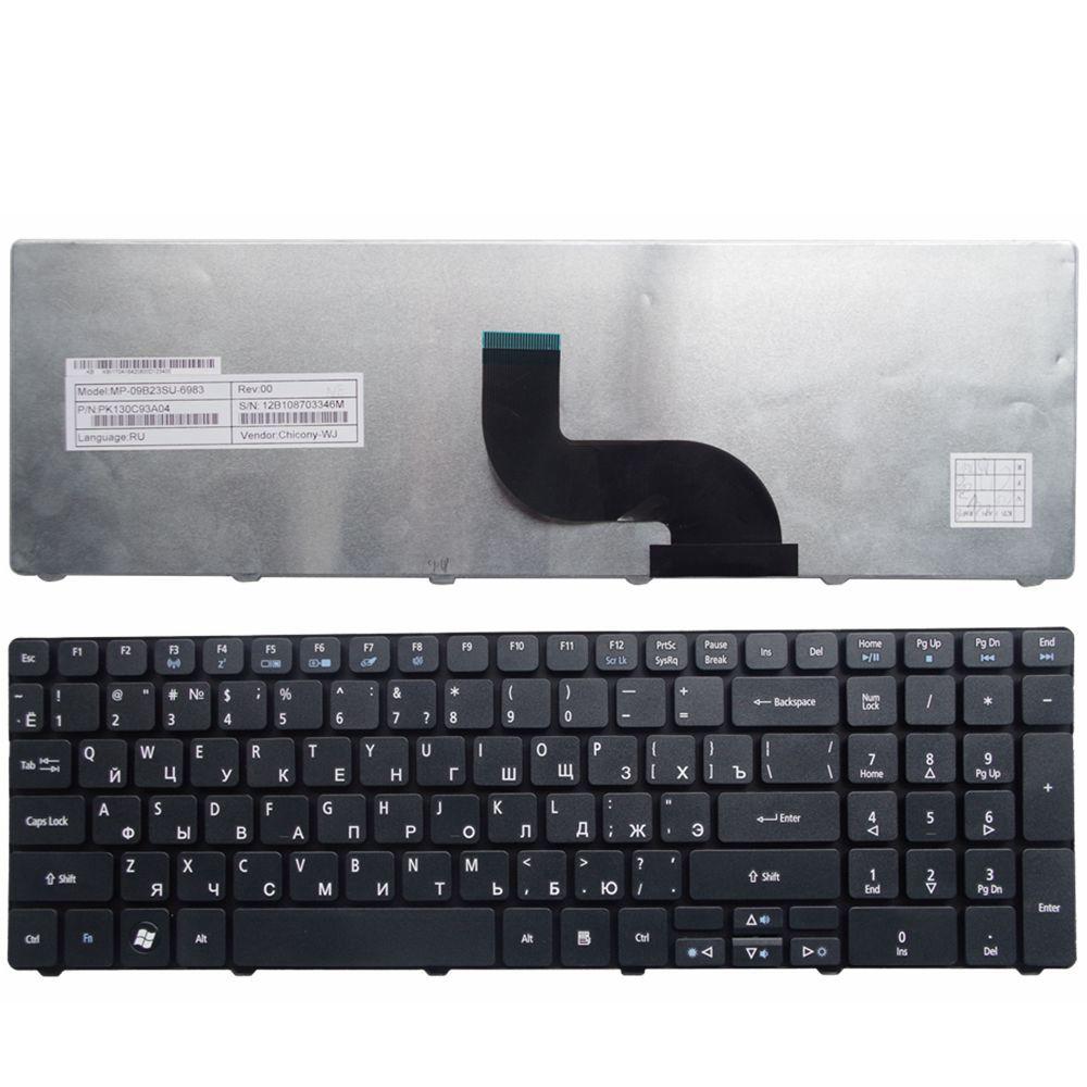 YALUZU Russian laptop keyboard for Acer FOR aspire E1-571 E1-571G E1 E1-521 E1-531 E1-531G TM8571 MP-09G33SU-698 PK130DQ2A04 RU