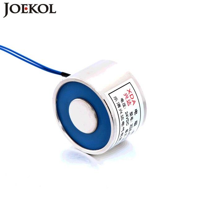 JK40/30 DC 6V 12V 24V Electromagnet Lifting 30KG Solenoid Sucker Holding Electric Magnet Non-standard custom