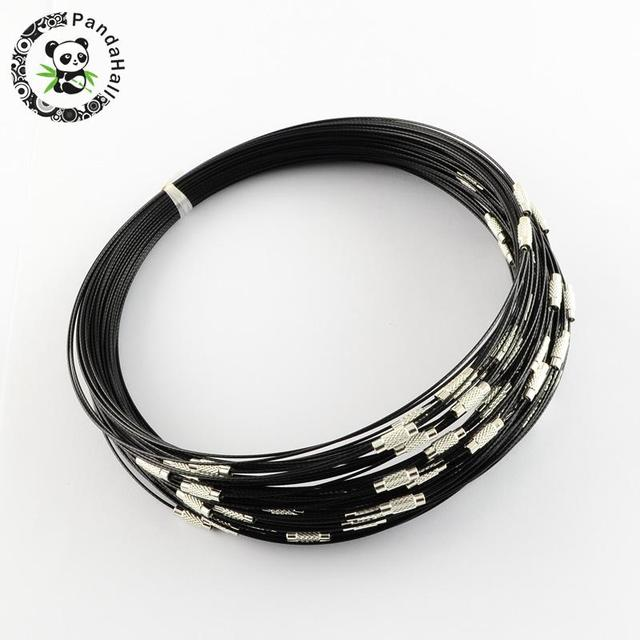 20Strands 1mm thick Stainless Steel Wire Necklace Cord DIY Jewelry ...