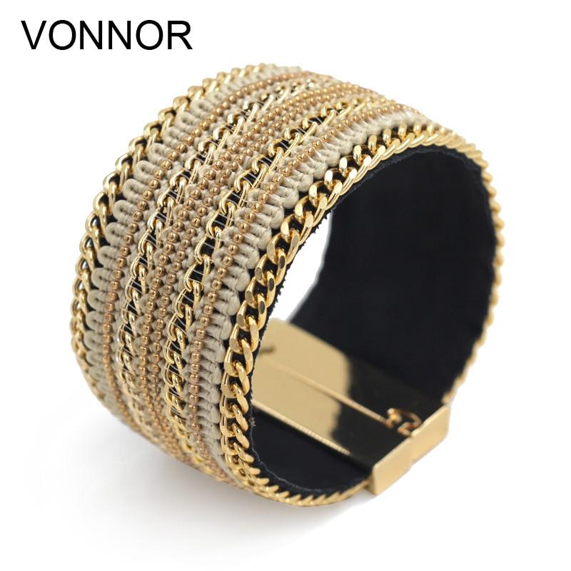 VONNOR Schmuck Armband für Frauen Leder Armreifen Armbänder - Modeschmuck - Foto 1