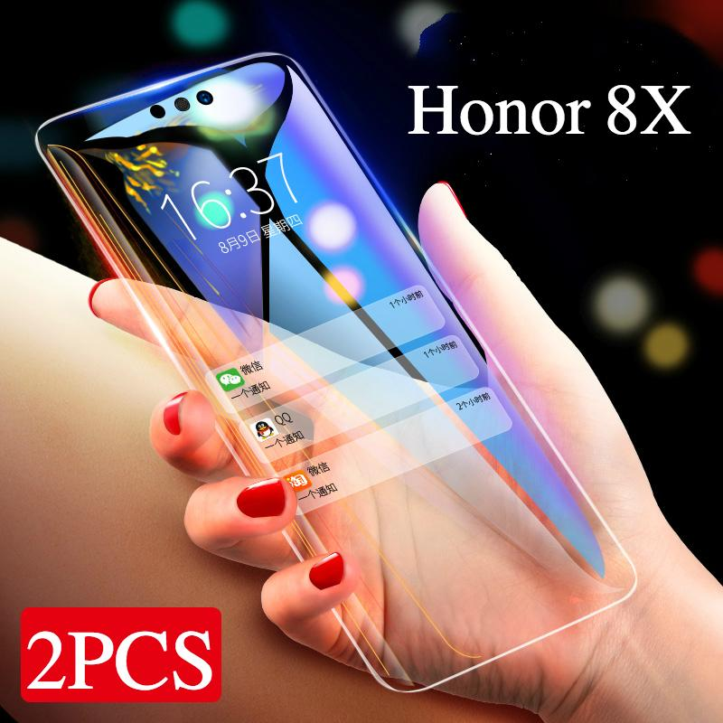 2pcs For Honor 8X Screen Protection Tempered Glass 9H+ 2.5D Glass For Huawei Honor 8X Glass Protector Film