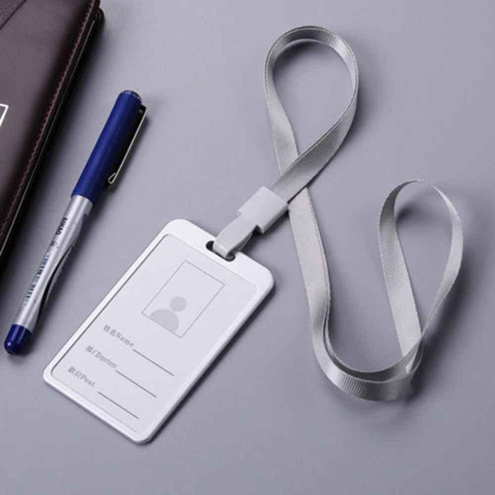 Titular do Passe de Meta à prova d' água ID Badge Holder Chaveiro Cadeia Chave do Caso Carteira Bolsa de Cartão de Ônibus Para A Escola Escritório Fornecedores Hot venda