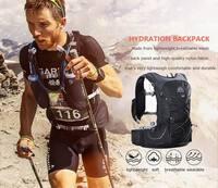 AONIJIE Men Women Hydration 15L Backpack Outdoor Sports Running Marathon Cross country Trail Racing Hiking Rucksack 3L Wate Bag