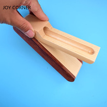 Купить онлайн Новый складной деревянный пенал для одной ручки ящик для хранения Творческий Деревянный Пенал многофункциональные офисные рабочего стола подарок радость углу