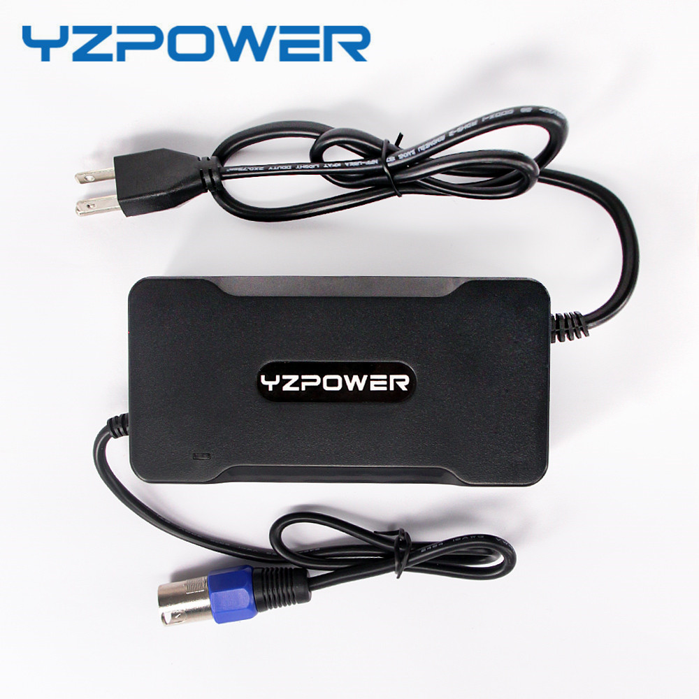YZPOWER 42V 5A Power Supply Lithium Battery Charger for 36V Lypomer Li-ion Scooter Battery Pack 36v 4400mah 4 4ah dynamic li ion lithium ion rechargeable battery for self balance electric scooters power bank