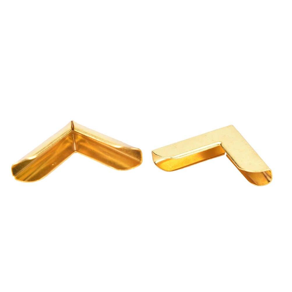 12 STKS 20*20mm Gold Scrapbooking Notebook Albums Card Menus Iron Bestandsmappen Boek Hoek Plated Protectors