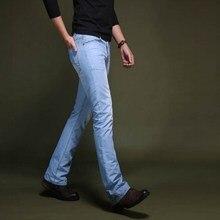 Men's Long Straight Leg Jeans Trousers Slim Male Bell Bottom Jeans Man Blue Flared Jeans Brand 2017