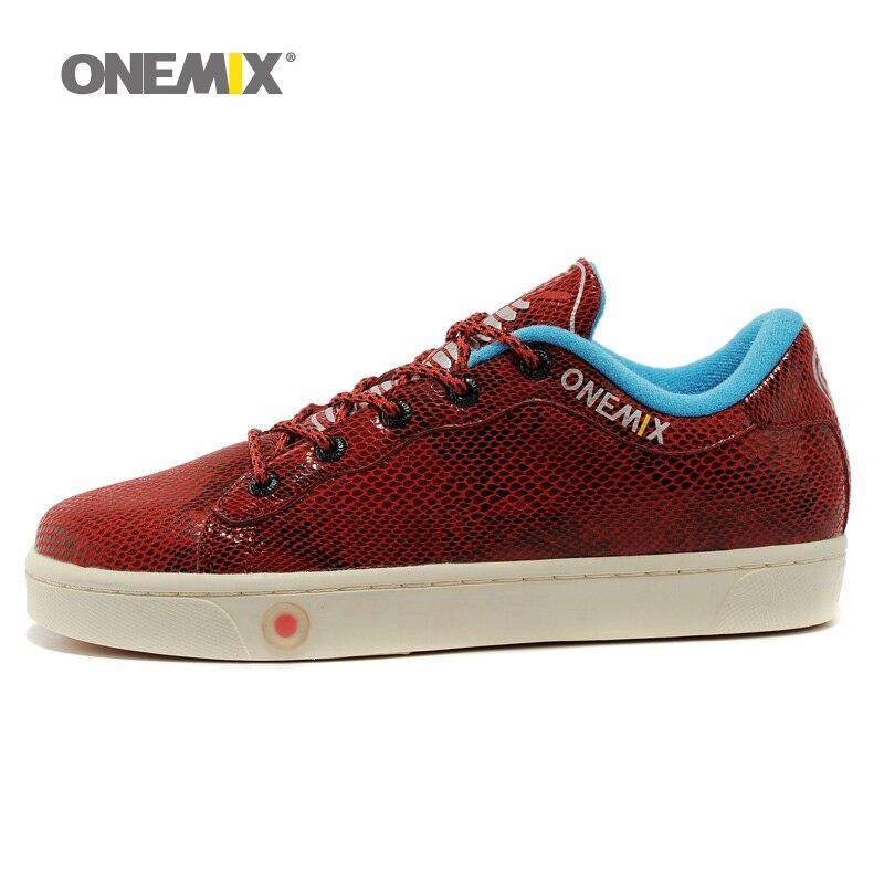 ONEMIX 2019 Man Walking Shoes For Men Cow Leather Waterproof Sneakers Classic Trend Skateboarding Shoe Tennis