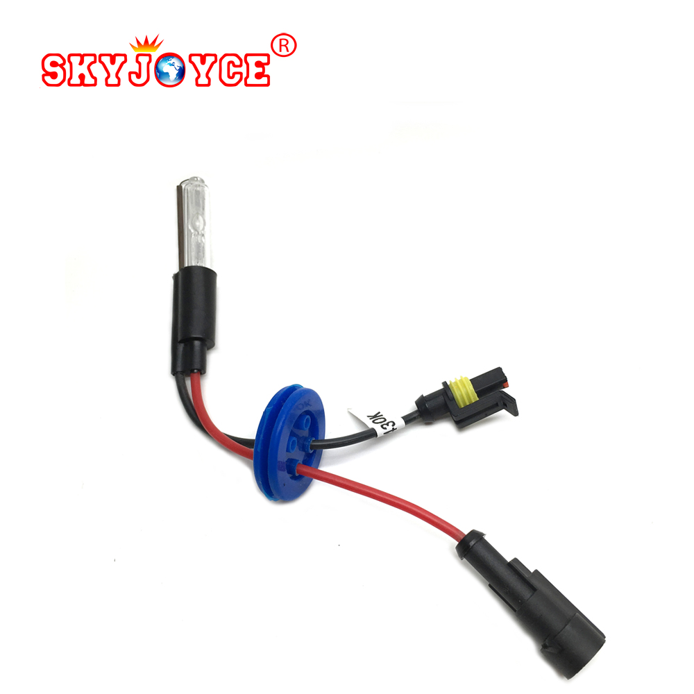 SKYJOYCE hid bulb mini projector bulb hid light 35W 4300K 5000K 8000K 6000K 3000K hid xenon projector headlight lamp accessories cnsunnylight d2s d2c metal bracket 35w hid xenon replacement light lamp bulb for car headlight lighting3000k 4300k 6000k 8000k
