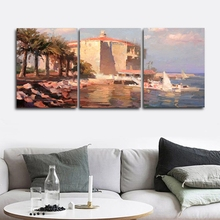 Watercolor Scenery Wall Pictures Poster Print Canvas Painting Calligraphy Decor for Living Room Bedroom Home Frameless