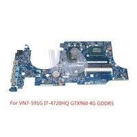 NOKOTION для acer aspire VN7 591 VN7 591G Материнская плата ноутбука NBMUV11002 448.02W05.0011 I7 4720HQ Процессор GTX960 4 ГБ видео карты