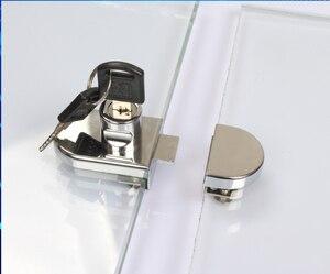 Superventas, cerraduras de vitrina/vitrina de vidrio, aleación de Zinc, vidrio de 5-8mm, puerta simple/doble, sin necesidad de taladrar, fácil de instalar