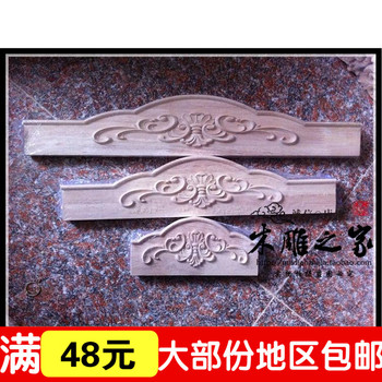 Special offer wholesale Dongyang woodcarving European style solid wood cabinet furniture skirt skirt die plate coaming Multi Siz image