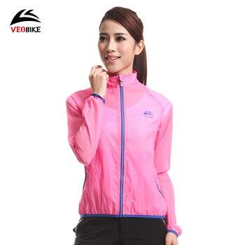 VEOBIKE Xe Đạp Windproof Áo Khoác Bảo Vệ UV Siêu Nhẹ Siêu Mỏng Xách Tay Nữ Thể Thao Ngoài Trời Đi Xe Đạp Bike Jacket