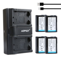 AOPULY 4Pcs 2000mAh NP FW50 NPFW50 NP FW50 Battery Batterie Bateria USB Dual Charger For Sony