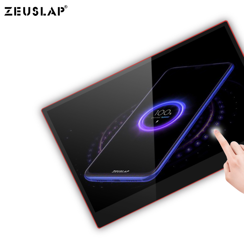 Image 5 - ZEUSLAP USB C HDMI 1080P HDR 10 Ponit Touching Portable Screen Monitor For Gaming Host, Thunderbolt Type C Phone and Laptop-in LCD Monitors from Computer & Office