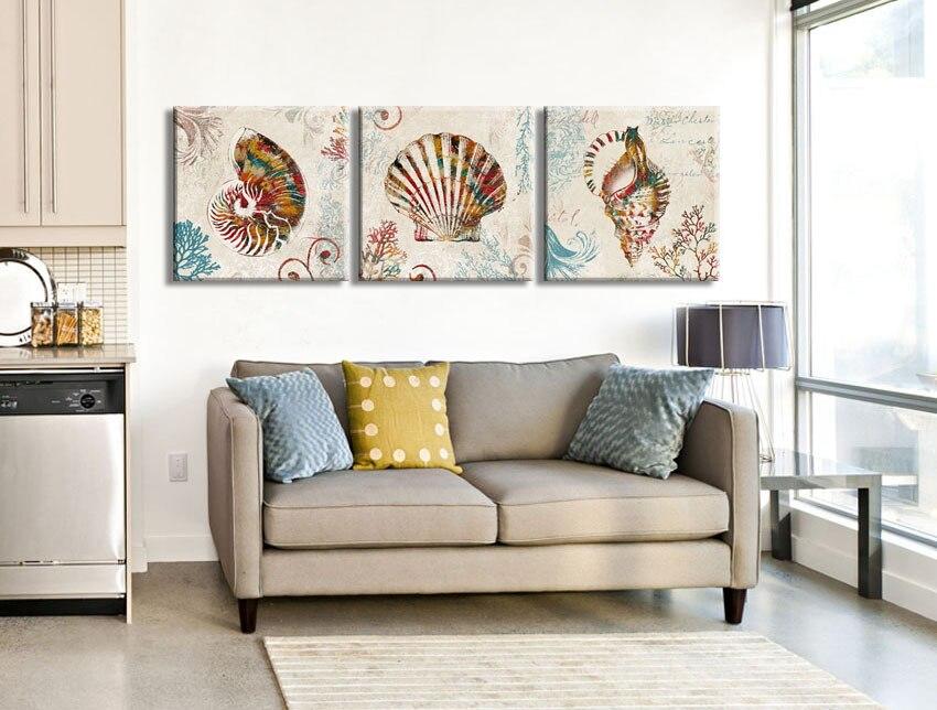 3 buah colorful Nautilus keong shell rumah antik dekoratif kanvas - Dekorasi rumah - Foto 3