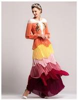 Vestidos largo elegante multicolor capas hombros encaje