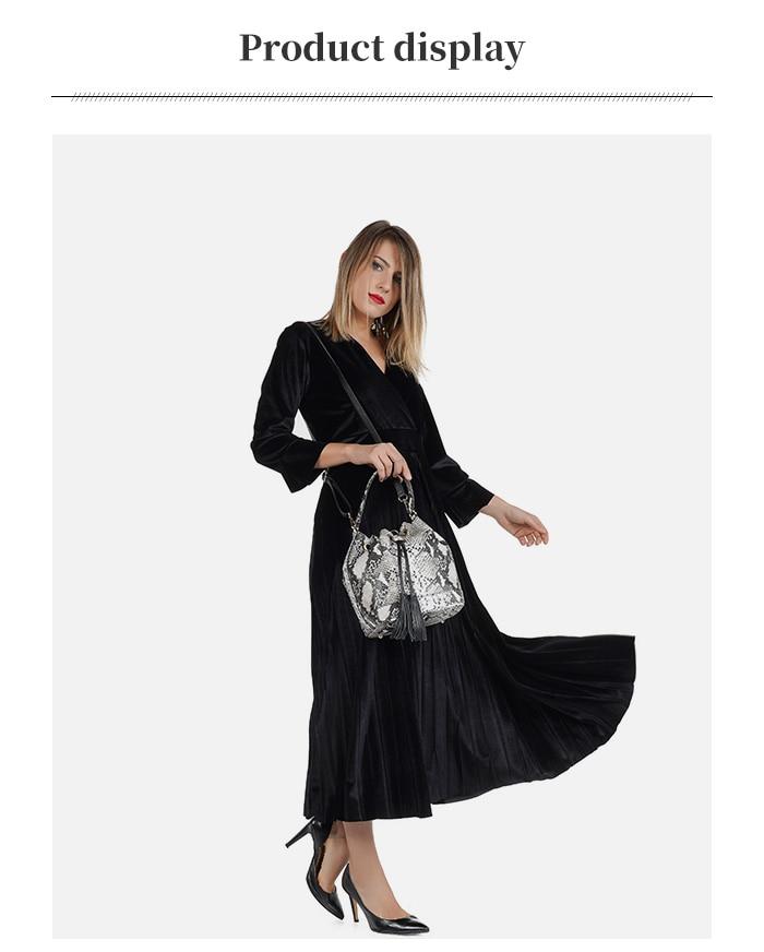 lulu milano Genuine leather leather printed snakeskin handbag made in Italy   P105-s 5