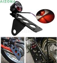 Метрические мотоциклы Боковое крепление стоп крышка бег задний фонарь w/черный номерные знаки для мотоциклов держатель Тормозная лампа Softail Criusers Bobber