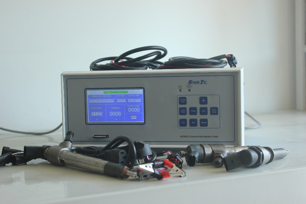 BST203-C 60Hz frequency piezo and electromagnetic common rail injector tester for bosch/delphi/denso/siemens/continental