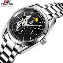 男性腕時計自動機械式時計トゥールビヨンスポーツ時計ステンレスレザーカジュアルビジネスレトロ腕時計 Relojes TEVISE