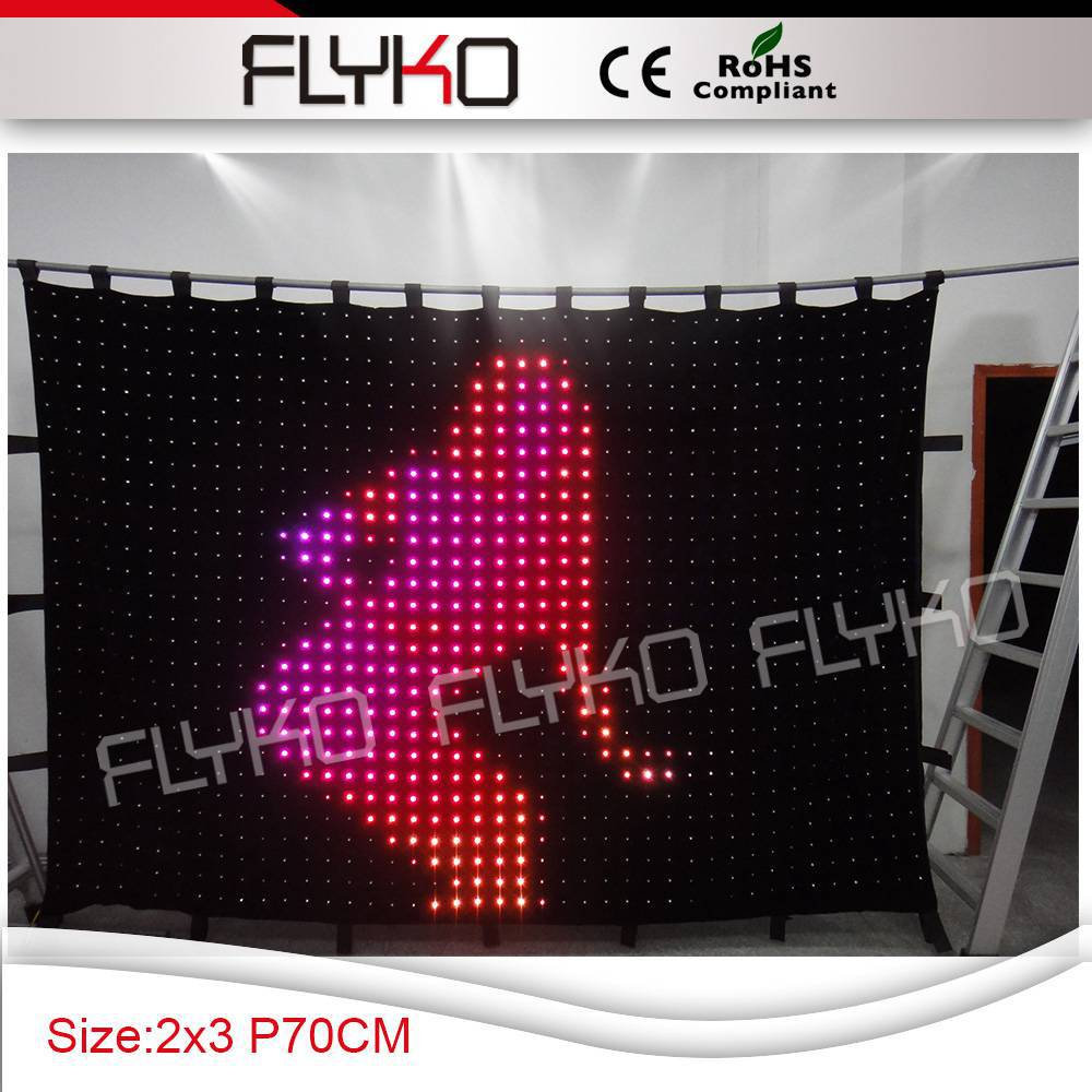 Free shipping 2m *3m P70MM Popular indoor cheap portable lighted stage decoration backdrop