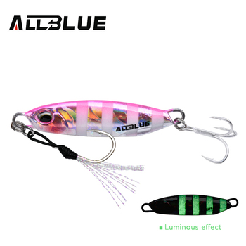 ALLBLUE New DRAGER Metal Cast Jig Spoon 15G 30G Shore Casting Jigging Lead Fish Sea Bass Fishing Lure  Artificial Bait Tackle 14