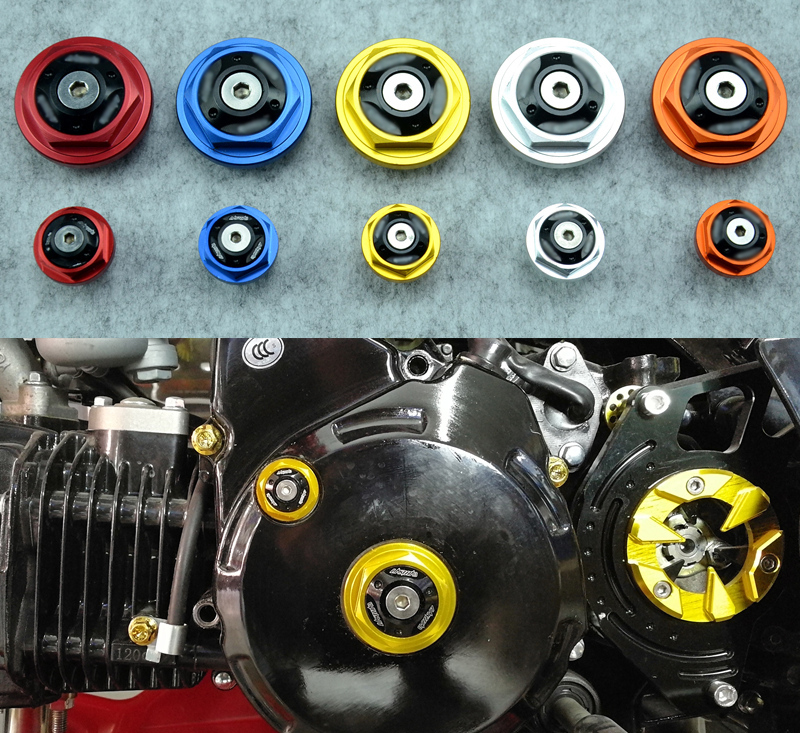 CNC Aluminum Motorcycle Engine Screw Engine Oil Cap For Honda MSX125 YG125 m20 2 5 motorcycle cnc magnetic engine oil filler cap for honda nc700 nc750s nc750x cb500x motor bike accessoreis
