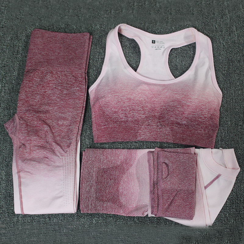 Mulheres Correndo Ginásio Roupas de Fitness Cintura Alta terno dos esportes