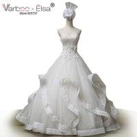 Free Shipping Luxury Wedding Dress Beading Ball Gown Wedding Dress Real Sample Photo Ruffles White Wedding