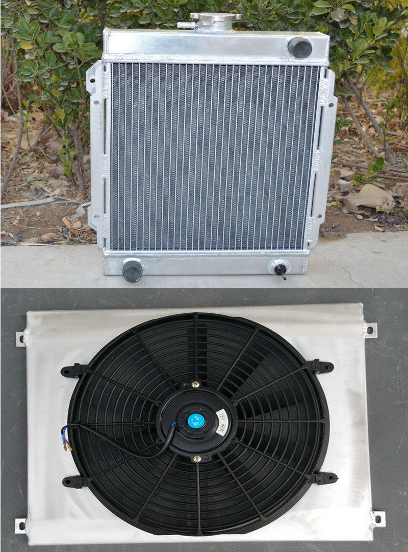 For 3 ROW DATSUN 1200 B110 A12//T 1970-1976 71 Aluminum Radiator /& FAN