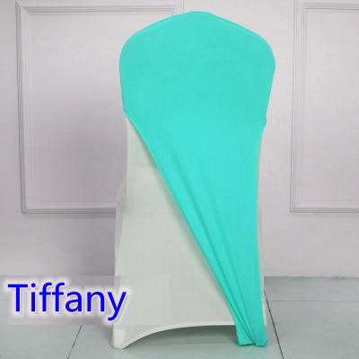 Tiffany färg lycra stol täcker kepsar universella för bröllop - Hemtextil