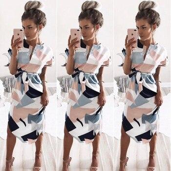 Women Dress 2018 Summer Long Floral Print Boho Dress 3