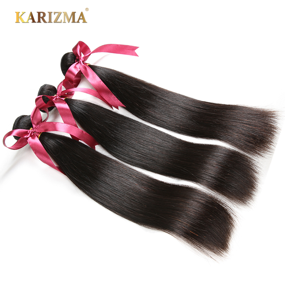 Karizma 3 Bundles Indian Straight Hair 8-30inch 100% Non Remy Human Hair Weave Bundles Machine Double Weft