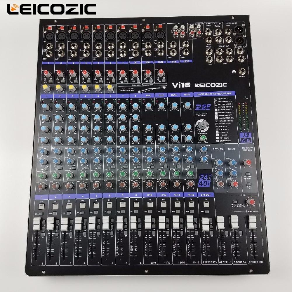 Leicozic vi 16 professional mixing console 16 channel mixer audio console dsp effect console - Professional mixing console ...