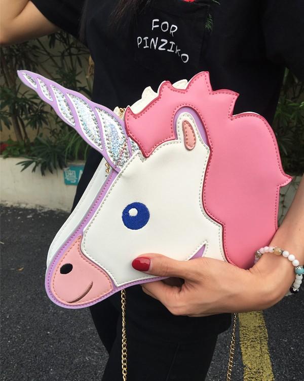 HTB1 LyHLpXXXXafaXXXq6xXFXXXJ - Unicorn Handbag women Shoulder Bag Cute