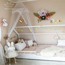 Romantic Printed Round Baby Mosquito Net Hung Dome Mosquito Netting Bed Canopy For Kids Bedroom Nursery Decoration Supplies elegant hung dome mosquito nets for summer polyester mesh fabric home textile wholesale bulk accessories supplies products