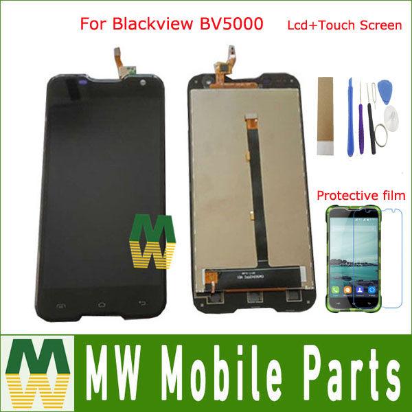 1PC /Lot Original Quality For Blackview BV5000 LCD Display +Touch Screen Digitizer Assembly black color with kit