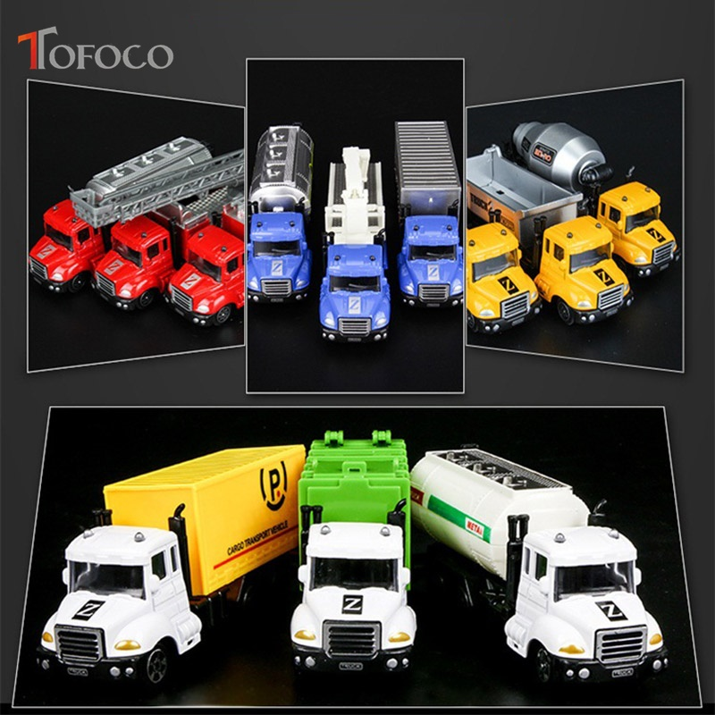 TOFOCO New 12 Type 17cm Mini Metal Car Molde Collection Truck  Police Fire Vehicle Car Toys For Boys Children Christmas Gift
