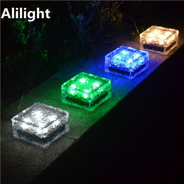outdoor stairs lighting. Waterproof Recessed Led Floor Stairs Lights IP68 Outdoor Lighting Solar Underground Lamp Bricks Step Light Home