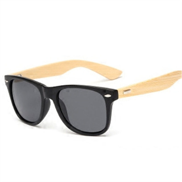 Bamboo Sunglasses Travel Goggles Vintage Wooden Leg Eyeglasses Fashion Brand Design