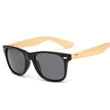 Gafas de sol de bambú, gafas de las mujeres de los hombres de gafas de sol gafas Vintage pierna de madera gafas de moda de diseño de marca de gafas de sol hombre mujer