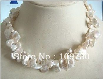 Jewelry 001719 18-20mm Australian south sea white pearl necklace 18inch